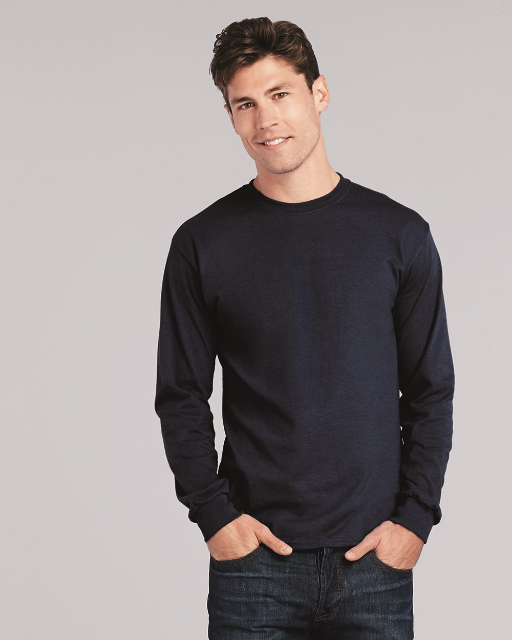 Gildan SoftStyle Long Sleeve T-Shirt Adult Men/'s Mens Plain Top tops Casual