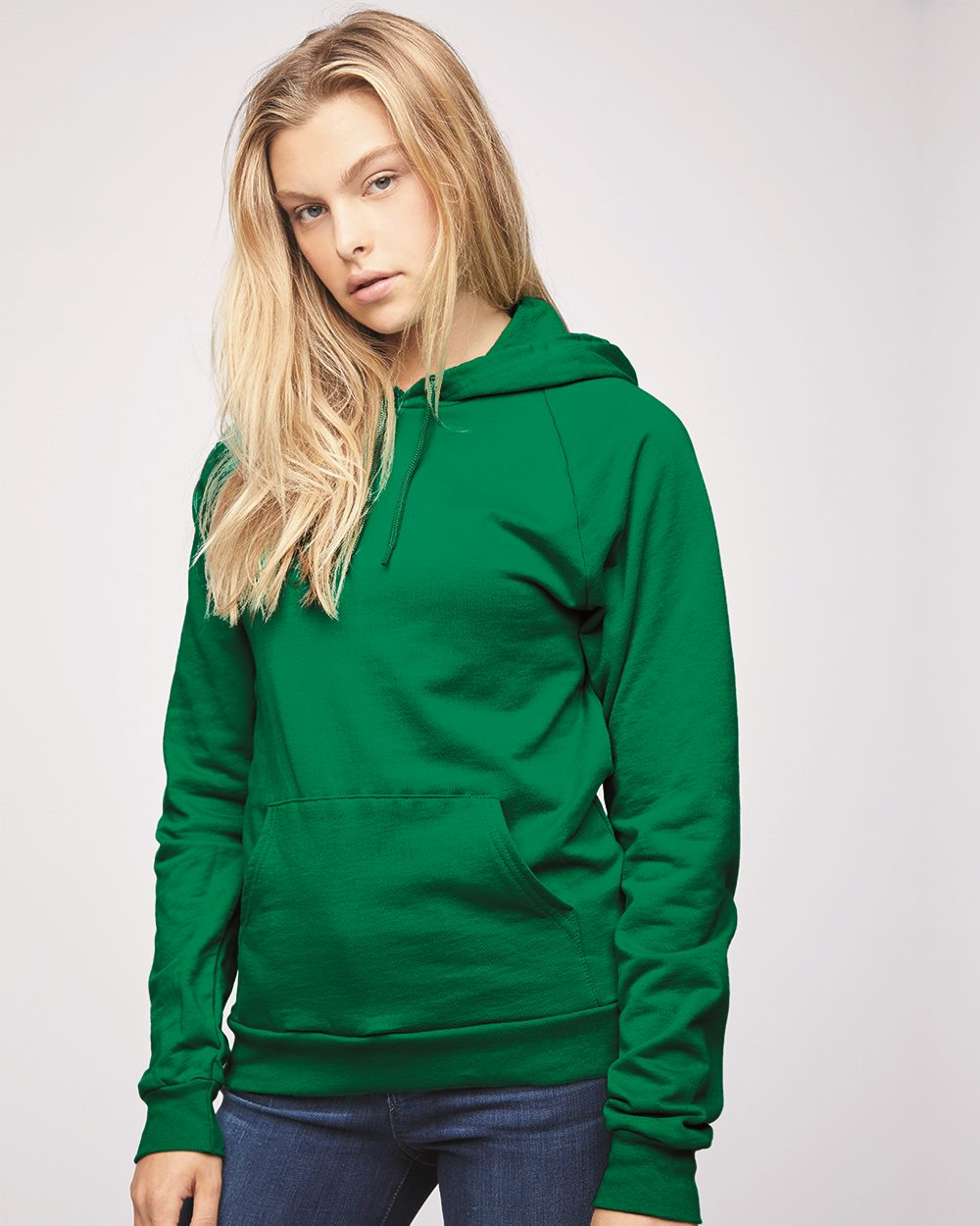 American Apparel Mens California 100/% Cotton Fleece Pullover Hoodie