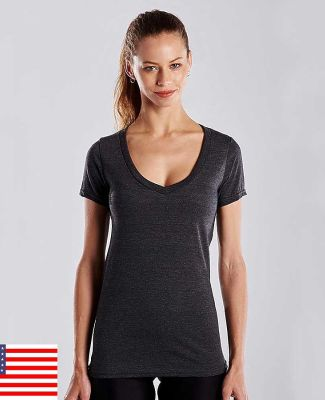 US Blanks US120 Ladies' 4.3 oz. Short-Sleeve V-Neck