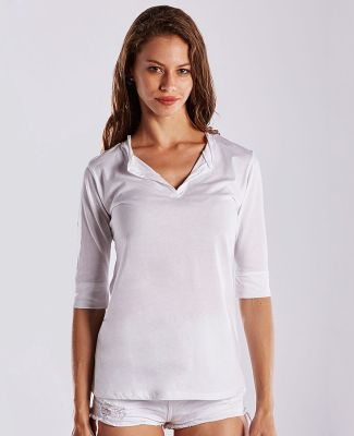 US Blanks US205 Ladies' 3.5 oz. Elbow Sleeve Footie Tee