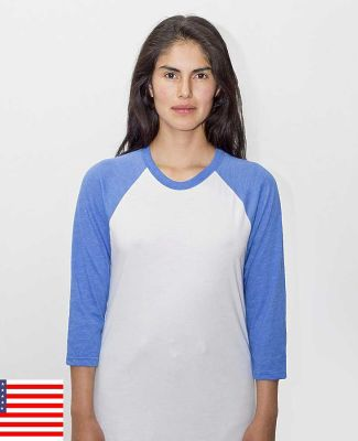 Los Angeles Apparel FF53 Raglan Baseball Tee