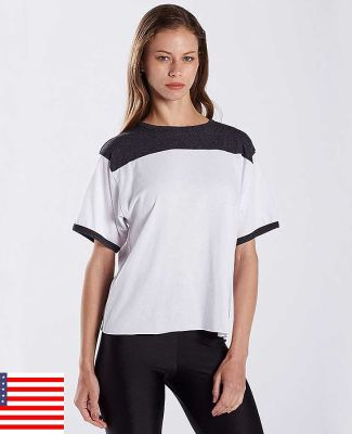 US Blanks US608 Ladies' 5.8 oz. Boxy Yoke Recycle Tee