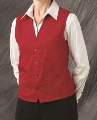 Chef Designs 1360 V-neck Button-Front Vest