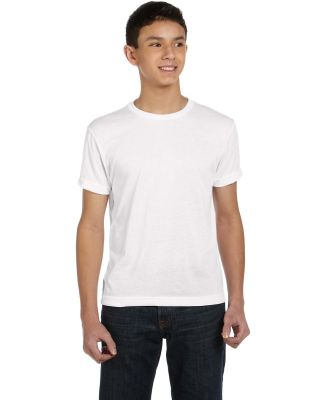 1210 SubliVie Youth Polyester Sublimation T-Shirt WHITE