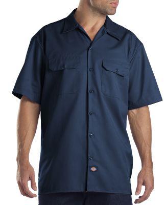 Dickies Workwear 1574T Unisex Tall Short-Sleeve Work Shirt NAVY