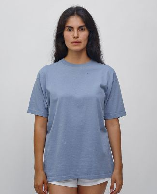 1801 Los Angeles Apparel Unisex Garment Dyed Cotton Tee Clear Blue