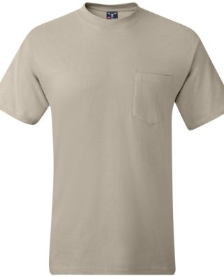 5190 Hanes® Beefy®-T with Pocket Sand