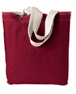 1906 Authentic Pigment 14 oz. Direct-Dyed Raw-Edge Tote CHILI