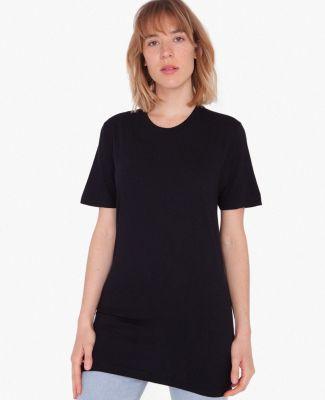 American Apparel 2001TLW Unisex Tall Fine Jersey Short-Sleeve T-Shirt Black