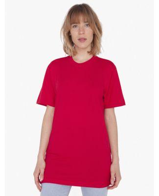 American Apparel 2001TLW Unisex Tall Fine Jersey Short-Sleeve T-Shirt Red