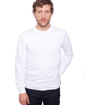 American Apparel 2007ORW Unisex Organic Fine Jersey Long-Sleeve T-Shirt White
