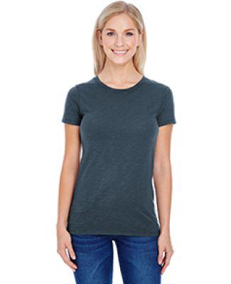 201A Threadfast Apparel Ladies' Slub Jersey Short-Sleeve Tee CHARCOAL SLUB