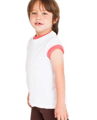 American Apparel 2105ORW Toddler Organic Fine Jersey Short-Sleeve T-Shirt White