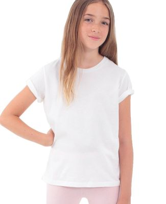 American Apparel 2201ORW Youth Organic Fine Jersey Short-Sleeve T-Shirt White