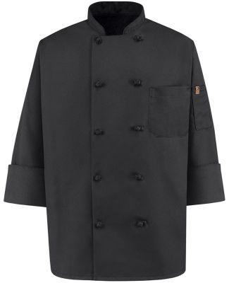 Chef Designs 0427 Black Knot Button Chef Coat