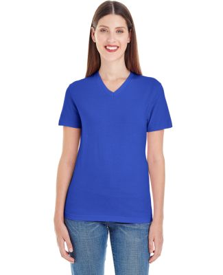 2356 Ladies' Fine Jersey Short-Sleeve Classic V-Neck Lapis (Discontinued)