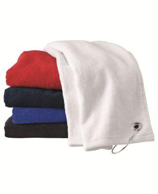 Carmel Towel Company C1518GH Velour Hemmed Towel with Corner Grommet & Hook