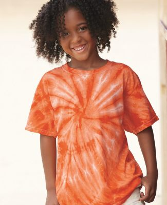 Dyenomite 20BCY Youth Cyclone Vat-Dyed Pinwheel Short Sleeve T-Shirt