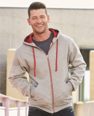Jerzees 93CR NuBlend Colorblocked Full-Zip Hooded Sweatshirt
