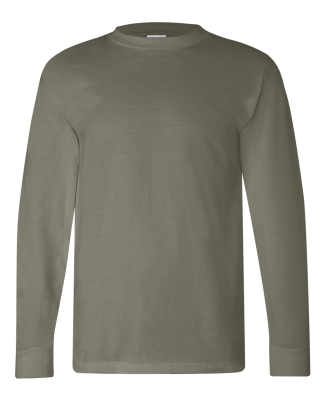 6100 Bayside Adult Long-Sleeve Cotton Tee Safari