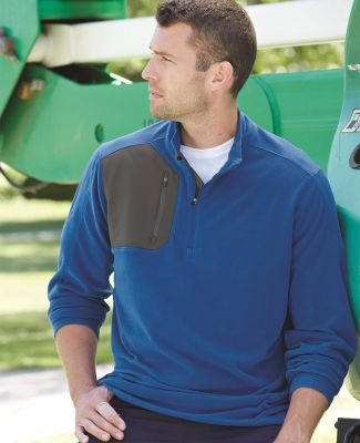 DRI DUCK 7345 Interval DDX Quarter-Zip Nano-Fleece Nylon Pullover