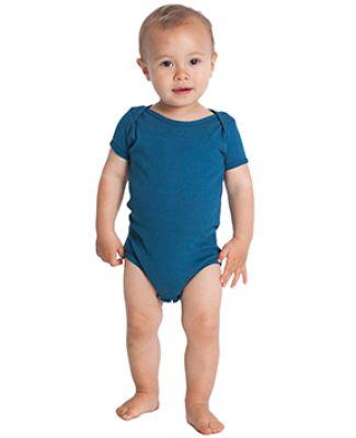 American Apparel 4001ORW Infant Organic Baby Rib Short-Sleeve One-Piece Galaxy