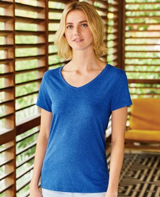 Hanes 42VT Women's V-Neck Triblend Tee with Fresh IQ