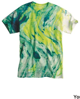 Dyenomite 20BMR Youth Marble Tie Dye T-Shirt