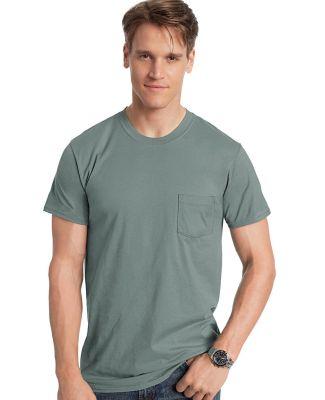 Hanes 498P Nano-T Pocket T-Shirt