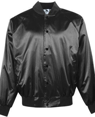 3600 Augusta Satin Baseball Jacket Solid Trim