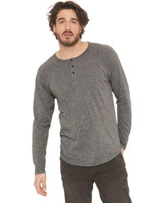 184 6072 Tri-Blend Long Sleeve Henley