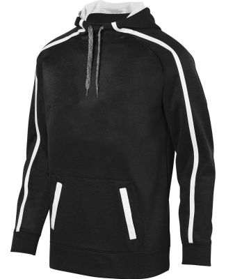 Augusta Sportswear 5555 Youth Stoked Tonal Heather Hoodie Black/ White