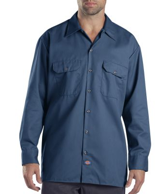 Dickies Workwear 574T Unisex Tall Long-Sleeve Work Shirt NAVY