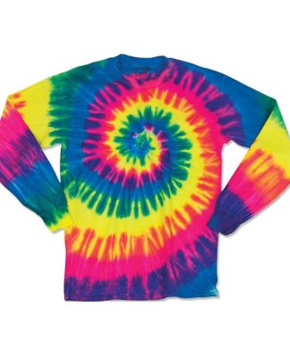 Dyenomite 24BMS Youth Spiral Tie Dye Long Sleeve