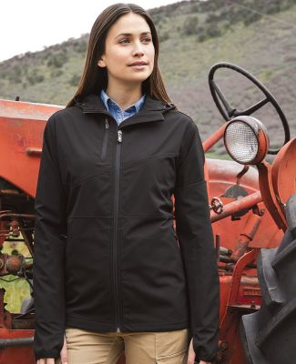 DRI DUCK 9411 Women's Ascent Hooded Soft Shell Jacket