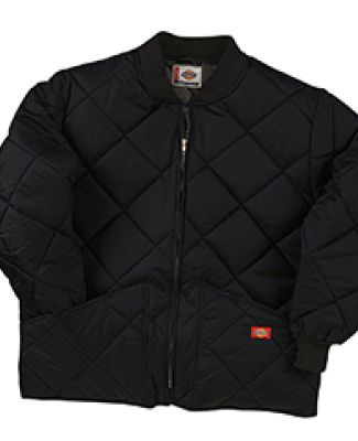 Dickies Workwear 61242T Diamond Quilted Nylon Jacket BLACK
