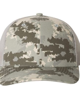 Richardson Hats 112P Patterned Snapback Trucker Cap Military Digital Camo/ Light Green