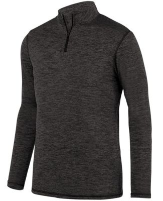 Augusta Sportswear 2956 Youth Intensify Black Heather Quarter-Zip Pullover