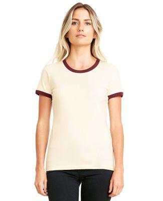 Next Level Apparel 3904 Ladies' Ringer T-Shirt