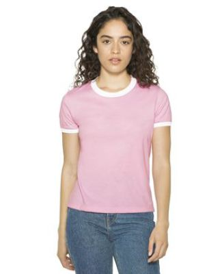 American Apparel BB310W Women's Poly-Cotton Ringer T-Shirt