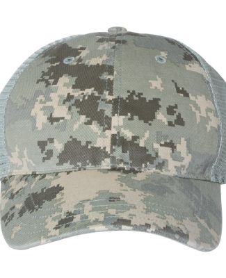 Richardson Hats 111P Washed Printed Trucker Cap Military Digital Camo/ Light Green