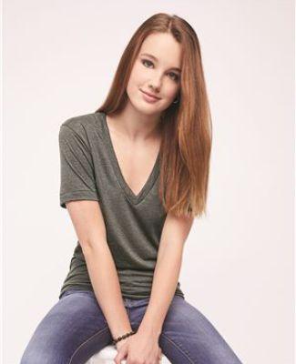 Unisex Tri-Blend S/S Deep V-Neck T-Shirt