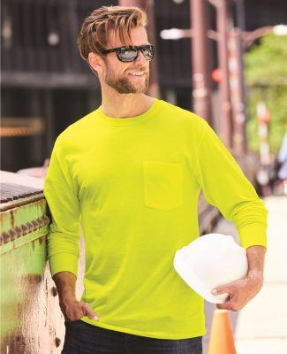 Hanes W120 Workwear Long Sleeve Pocket T-Shirt