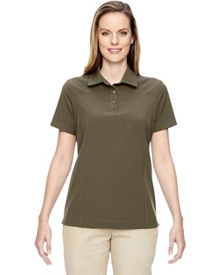 North End 75120 Ladies' Excursion Crosscheck Woven Polo DARK OAKMOSS
