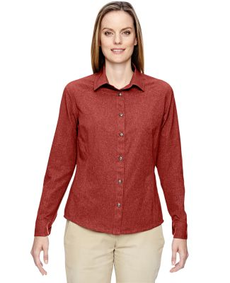 North End 77045 Ladies' Excursion Utility Two-Tone Performance Shirt RUST