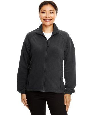 North End 78025 Ladies' Microfleece Unlined Jacket BLACK