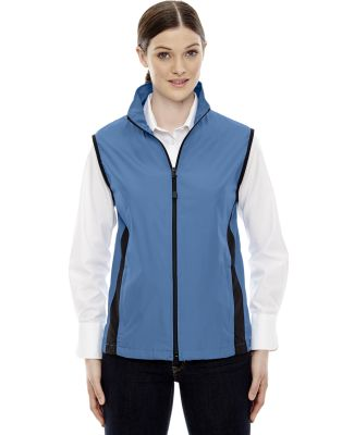 North End 78028 Ladies' Techno Lite Activewear Vest LAKE BLUE