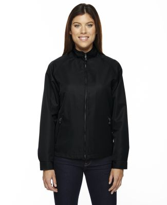 North End 78044 Ladies' Mid-Length Micro Twill Jacket BLACK