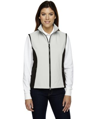 North End 78050 Ladies' Three-Layer Light Bonded Performance Soft Shell Vest NATURAL STONE