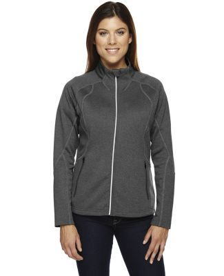 78174 North End Gravity Ladies' Performance Fleece Jacket  CARBON HEATHER